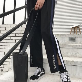 OCTALE - Letter Slit Wide Leg Pants
