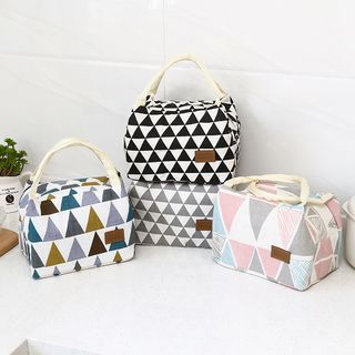 Lindo Bags - Geometric Print Insulated Lunch Bag