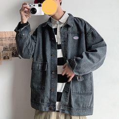 KOKAY - Logo Washed Denim Jacket