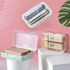 Cutie Pie - Plastic Portable Storage Box with Mirror