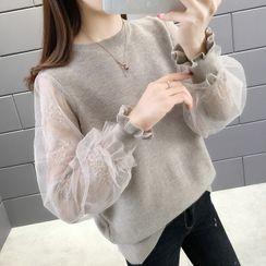 Luglio - 網紗袖毛衣