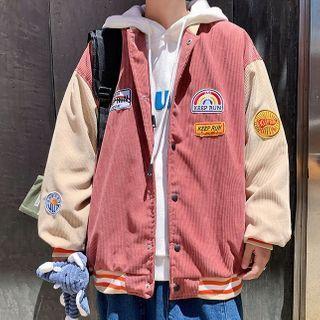 GRAYCIOUS - Patched Baseball Jacket