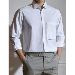 STYLEMAN - Patch-Pocket Plain Shirt