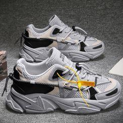 Chaoqi - Paneled Platform Sneakers