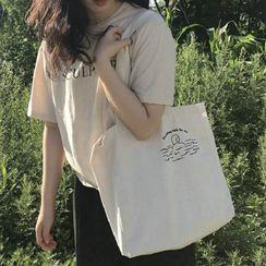 Woodword - Print Canvas Tote Bag