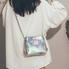 Felicity - Sequined Faux Leather Crossbody Bag