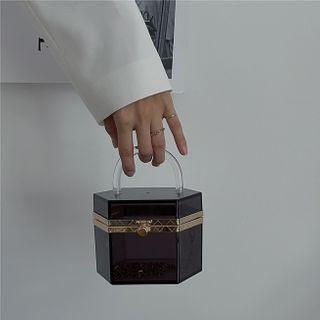 Travelholic - Acrylic Top Handle Crossbody Bag