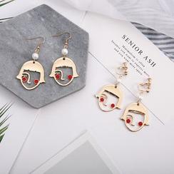 Scoria - Face Earring / Clip-On Earrings
