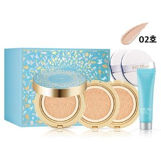 su:m37 - Water-Full CC Cushion Perfect Finish (2018 Holiday Edition) #02 Special Set 4pcs
