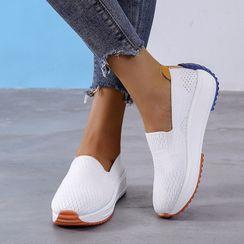 Artiz - Knit Wedge Heel Slip-Ons
