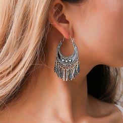 B.muse - Rhinestone Chandelier Earring