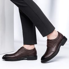 WeWolf - Genuine-Leather Fleece-Lined Lace-Up Shoes