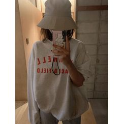 maybe-baby - Round-Neck Loose-Fit Pullover