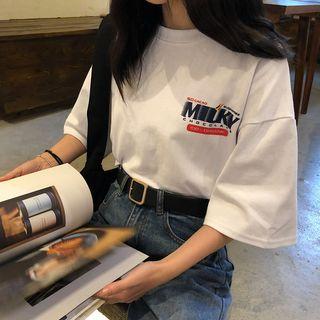 Moon City - Boxy T-Shirt mit Print