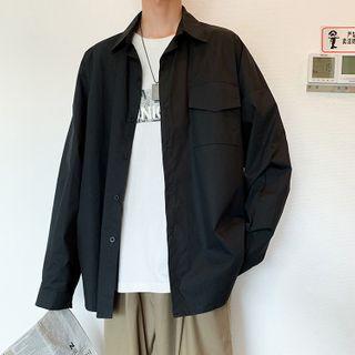Lazi Boi - Long-Sleeve Plain Shirt