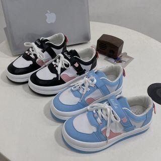 Bolitin - Color Block Platform Lace-Up Sneakers