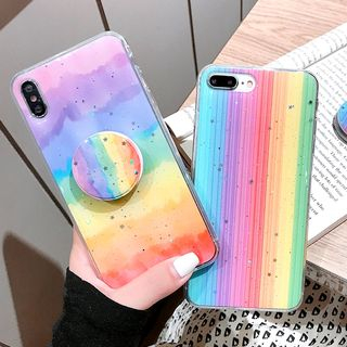 Mobby - Rainbow Stand Phone Case - iPhone 6 / 6 Plus / 7 / 7 Plus / 8 / 8 Plus / X / XR / XS / XS MAX