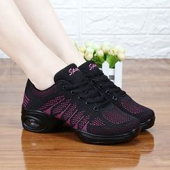 Danceon - Plain Mesh Panel Dance Shoes