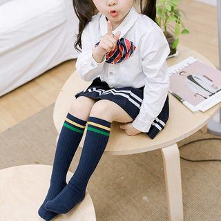 Knit a Bit - 儿童一套三双: 条纹高身袜