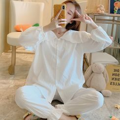 Mamaladies - Maternity  Long-Sleeve Pajama Set