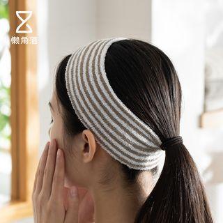 懒角落 - 条纹面部清洁头带