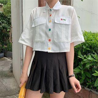 OUREA - 短袖短款衬衫