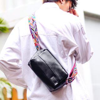SUNMAN - Faux Leather Shoulder Bag
