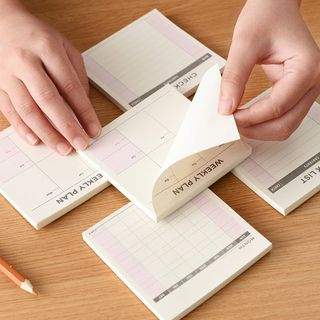 Eggshell Houseware - Mini Schedule Note Pad