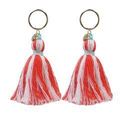 KATENKELLY - Tassel Drop Earrings (Red)