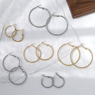 JAMIEL - 合金圈環耳環