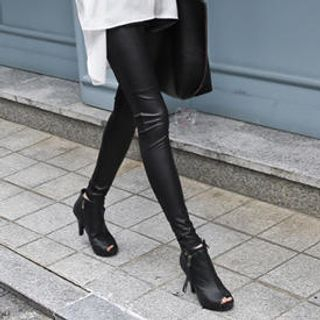 imvely - Faux-Leather Leggings