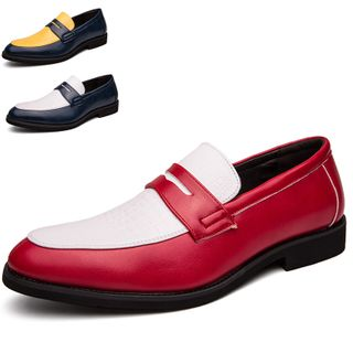 WeWolf - Color Block Faux-Leather Loafers