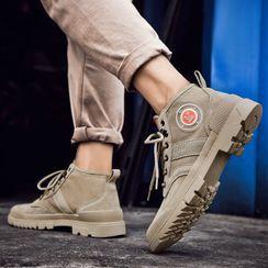 MARTUCCI - Lace Up Platform Short Boots