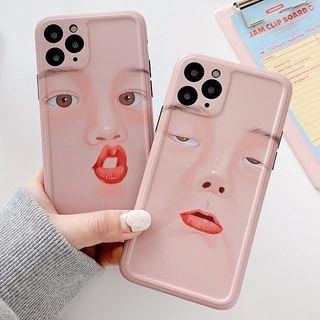 BlingStar - Face Print Phone Case - iPhone 11 Pro Max / 11 Pro / 11 / SE / XS Max / XS / XR / X / SE 2 / 8 / 8 Plus / 7 / 7 Plus / 6s