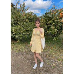 chuu - Frilled Blossom Empire Dress