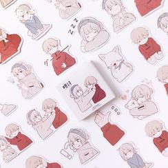 Hegma - Cartoon Couple Sticker Set