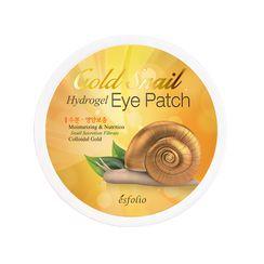 esfolio - Parches de hidrogel para el contorno de ojos Gold Snail Hydrogel Eye Patch 60uds