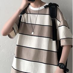 ITIS - Elbow-Sleeve Striped T-Shirt