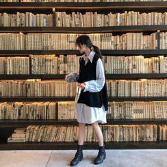 Clover Dream - 孕妇衬衫裙 / 针织马甲