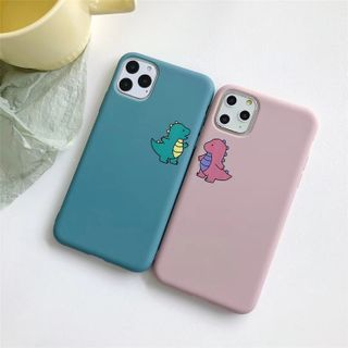 TreaSURE - Couple Matching Dinosaur Print Mobile Case - iPhone 11 Pro Max / 11 Pro / 11 / XS Max / XS / XR / X / 8 / 8 Plus / 7 / 7 Plus / 6s / 6s Plus