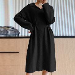 Herbavo - 孕婦針織A字連衣裙
