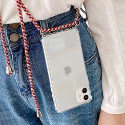 Mobby - Neck Strap Transparent Phone Case - iPhone 11 Pro Max / 11 Pro / 11 / SE / XS Max / XS / XR / X / SE 2 / 8 / 8 Plus / 7 / 7 Plus