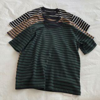 Xwisha - Elbow-Sleeve Striped T-Shirt