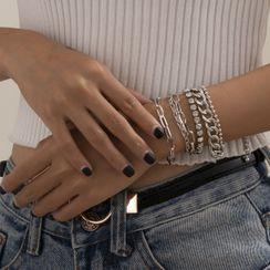 Seirios - Set: Chunky Chain Alloy Bracelet