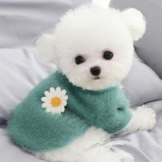 Bixin - 花朵毛絨寵物上衣