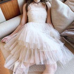Alberlino - Sleeveless A-Line Midi Wedding Dress