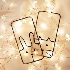 Cassie - 動物印花手機保護套 - iPhone 6 / 6 plus / 7 / 7 plus / 8 / 8 plus / X