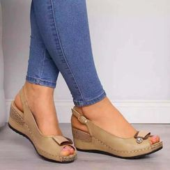 Avanti - Wedge Heel Platform Slingback Sandals