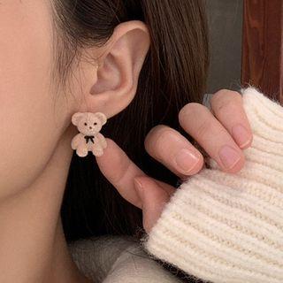 YUGGI - Teddy Bear Necklace / Ear Stud / Set