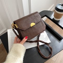 Cipres - Plain Flap Crossbody Bag